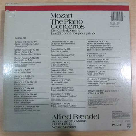 mozart  piano concertos alfred brendel academy  st martin   fields neville marriner