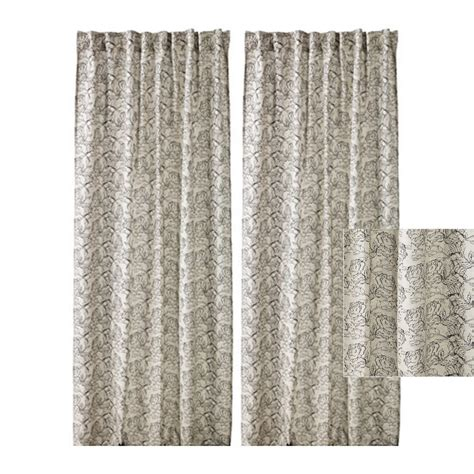 black linen drapes ikea ryssby 2014 curtains drapes black beige natural