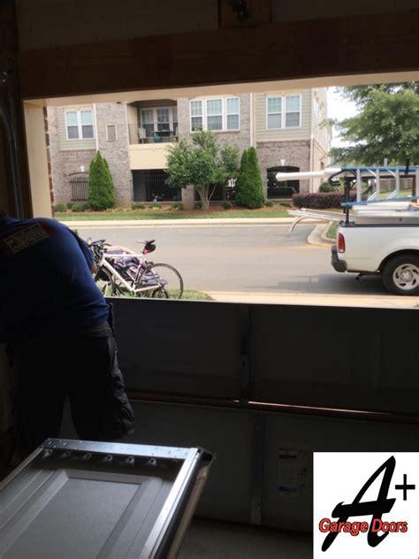 car garage door repair garage door repair of door hit by car residential