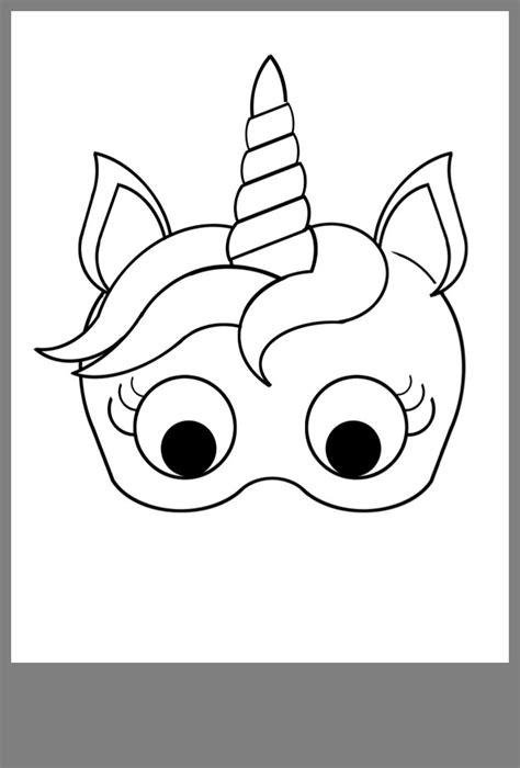 vienaragis diy unicorn mask unicorn printables