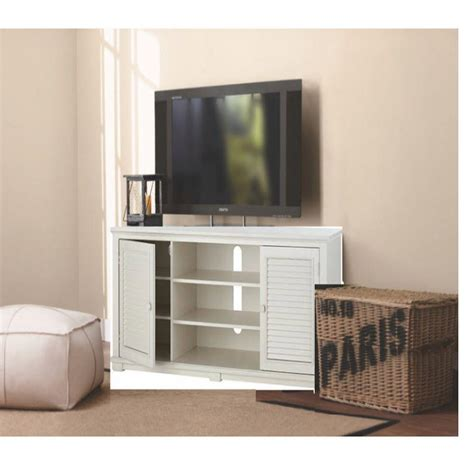 home decorators collection shutter 59 in w tv stand in