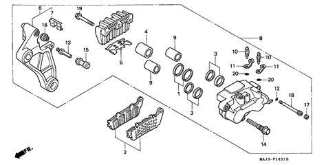 brake caliper parts diagram brake caliper diagram images