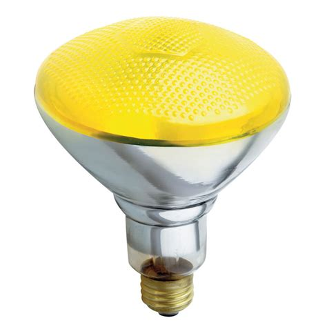 yellow bug light bulbs yellow bug br38 floodlight bulb 100 watts
