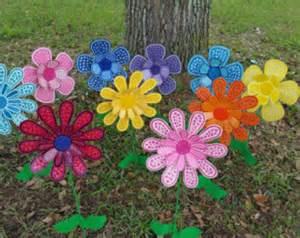 Metal Garden Flowers Outdoor Decor Metal Flower Garden Stake Large Garden Decor Gift For
