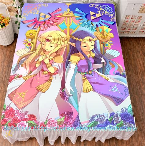zelda bed sheets anime game the legend of zelda bed sheets hd printed otaku cover 59 quot x78 7 quot 1