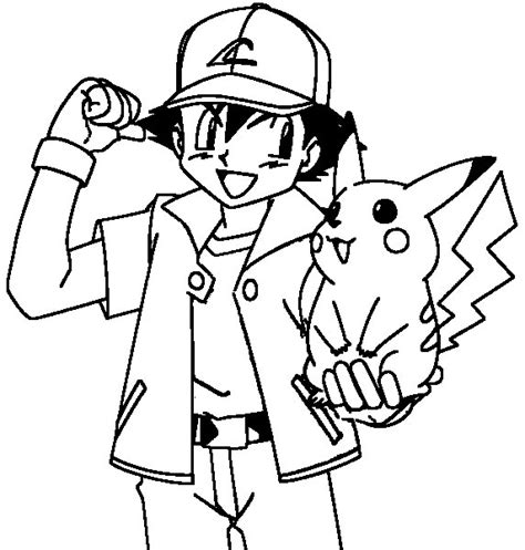 Ash And Pikachu Coloring Pages ash and pikachu coloring pages coloring pages