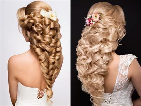 capelli con fiori acconciature sposa capelli lunghi 2018 idee bellissime