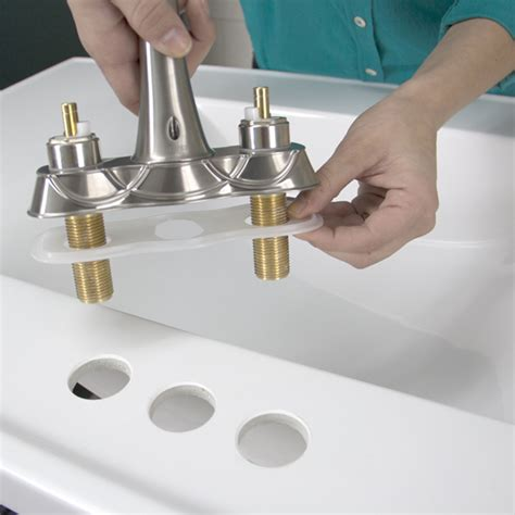 How To Install Faucet In Kitchen Sink Replace A Bathroom Faucet