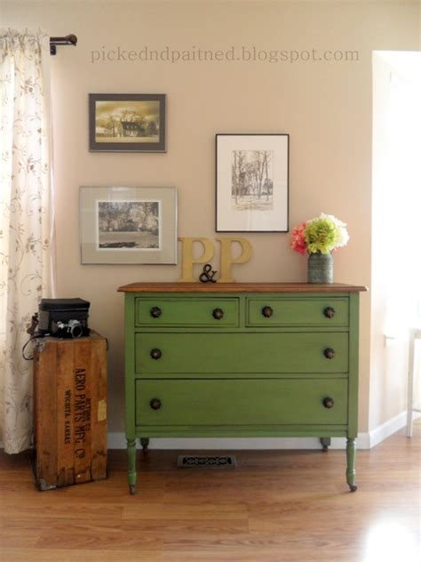 Painted Bedroom Dressers Green Farmhouse Dresser Traditional Bedroom St Louis By Picked Painted