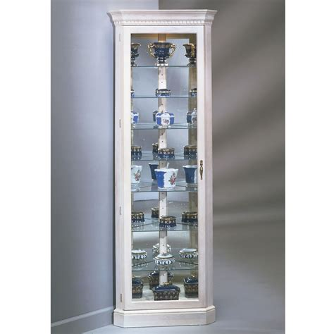 white curio cabinet glass doors the northern hardwood jefferson corner curio cabinet