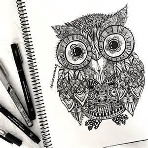 doodle owls zentangle owl by vivianhitsugaya on deviantart