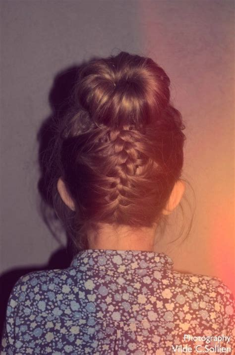 cool braids for hair braid bun cool fashion hair image 347337 on favim com