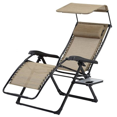 Zero Gravity Lounge Chair With Sunshade by The Best Zero Gravity Chaise Lounges