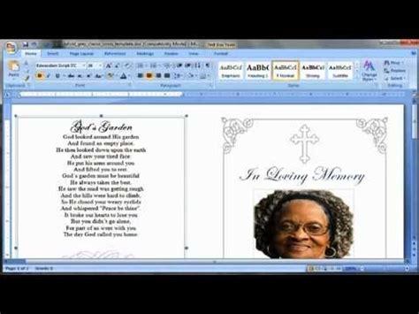 template program make nomenclature cards make a funeral program