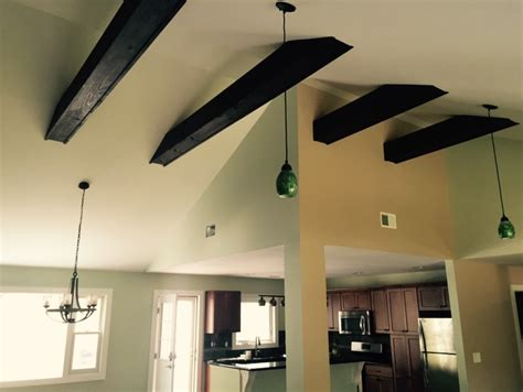 vaulted ceiling with exposed beams exposed ceiling beams design build pros