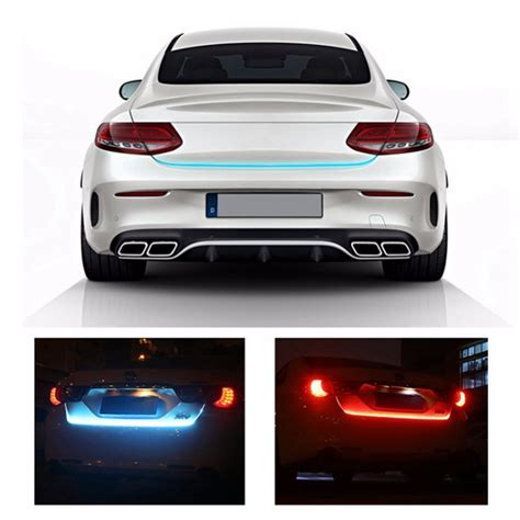 auto flow led strip trunk light flowing car rear tail