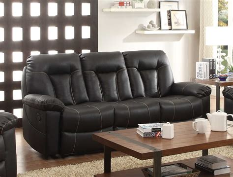 homelegance sofa reviews homelegance cade double reclining sofa black bonded