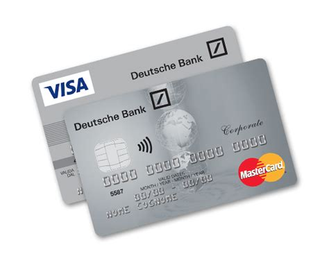 visa card deutsche bank carte di credito aziendali corporate card silver visa