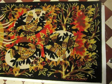 Tapisserie ées 70 by Tapisserie Aubusson Quot Aurore Quot J C Bissery Vintage 60 70