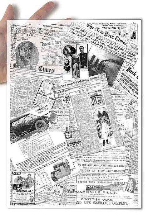 Decoupage Newspaper - decoupage softpapier soft papier collage aus alten