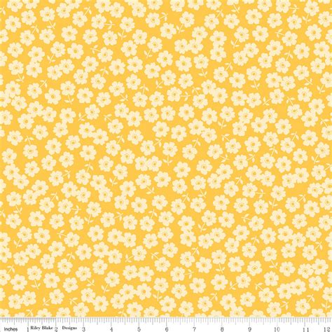 Yellow Flower Print fly a kite yellow fabric in floral print from