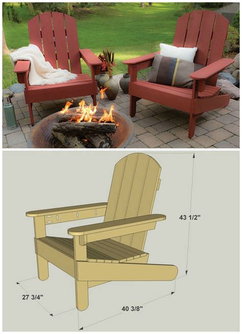 adirondack chair cushion diy 20 diy furniture and woodworking projects sky rye design