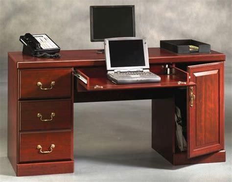 Office Desk Menards Sauder Heritage Hill Classic Cherry Computer Credenza At