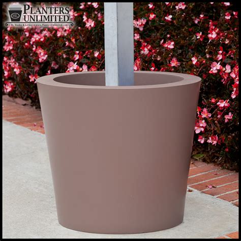 Post Planters by Wrap Around Commercial Post Planters Planters Unlimited