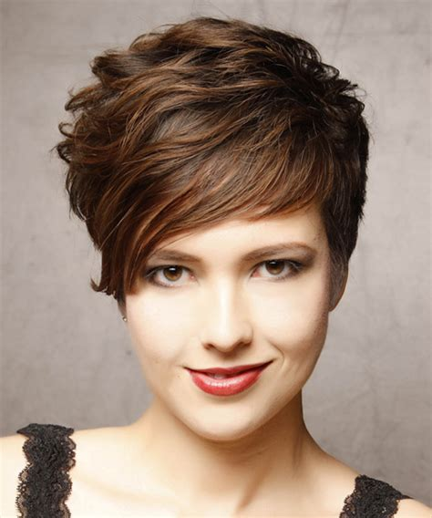 short haircuts for women over 50 formal affair short wavy formal hairstyle dark brunette