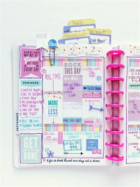 libro modern people mdp agenda for the happy planner mom s purple themed back to spread me my big ideas