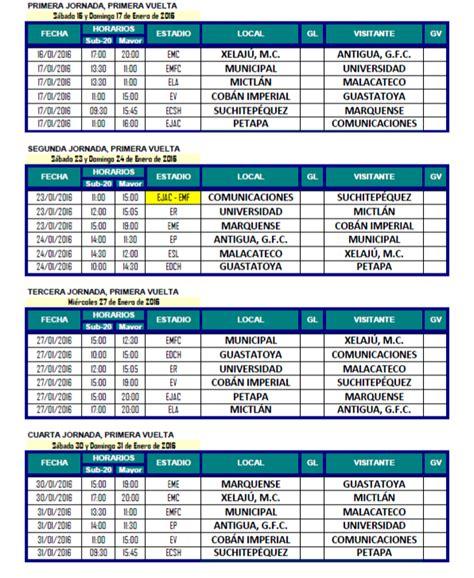 calendario de impuestos 2016 guatemala calendario del torneo clausura 2016 antorcha deportiva