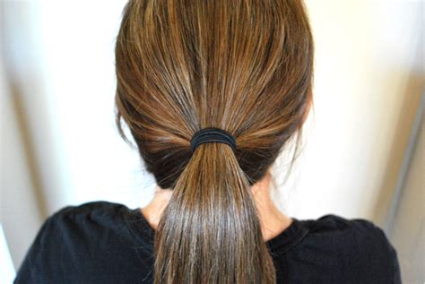 putting hair in ponytail and cut runway ready look in minutes artzycreations com