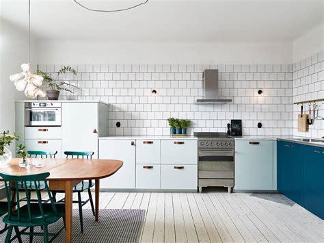 vt wonen gebreide l keuken in mintgroen en petrol blauw inrichting huis