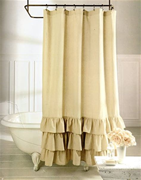 veratex shower curtain veratex vintage ruffle all natural fabric shower curtain