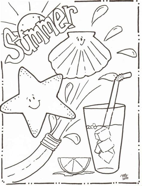 summer coloring page pdf summer coloring pages