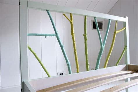 ikea hack bed frame ikea hack painted branch bed frame