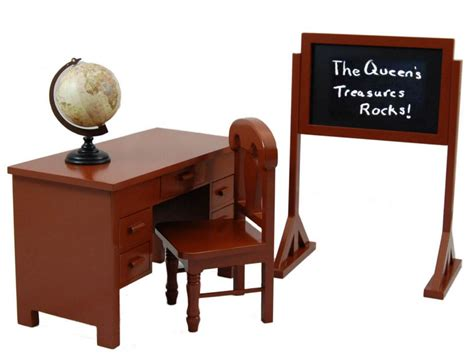 american desk teacher desk and play set for 18 quot dolls fits