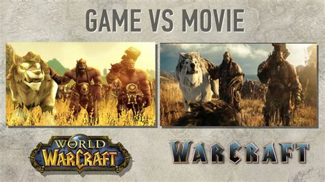 film gane video warcraft movie vs wow youtube