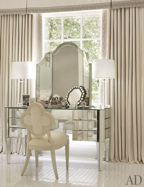 Bedroom Vanity With Mirror Mirrored Vanity Traditional Bedroom Architectural Digest