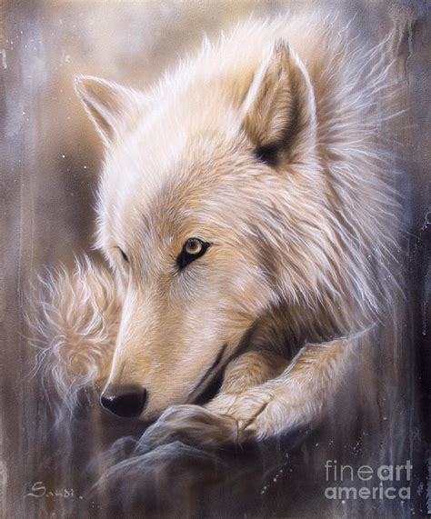 wolf painting dreamscape wolf by sandi baker