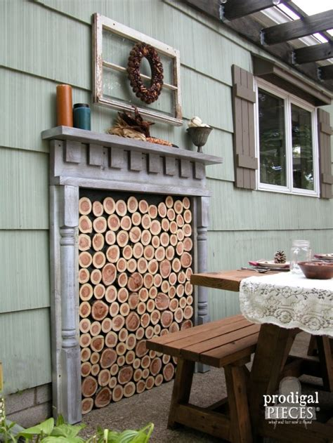 diy fireplace outdoor diy faux fireplace indoor or outdoor prodigal pieces