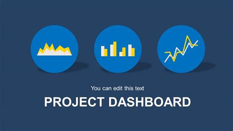 blue project dashboard powerpoint template slidemodel