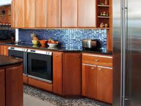 Blue Tile Backsplash Kitchen Blue Glass Tiles Backsplash