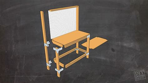 bench dog cls work bench with pegboard simply build it