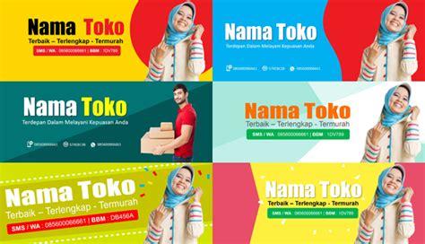 gratis template desain  banner toko