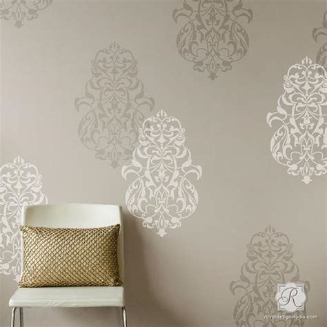 pattern wall painting ideas turkish ornament wall art stencils for painting large