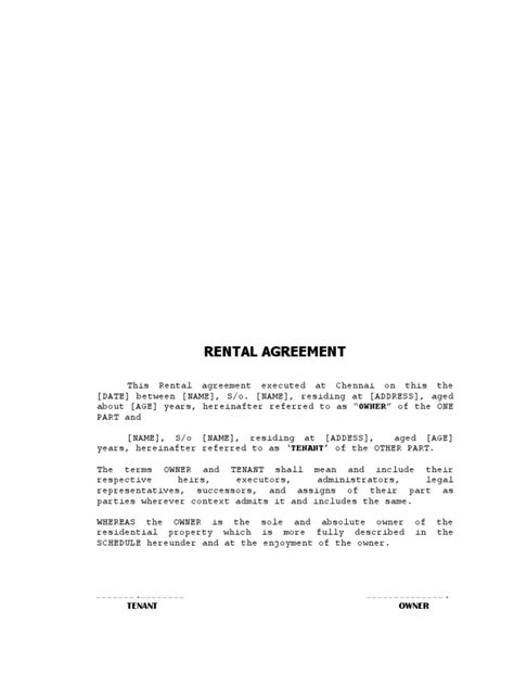 Memo Format Docx house rental agreement format docx lease renting