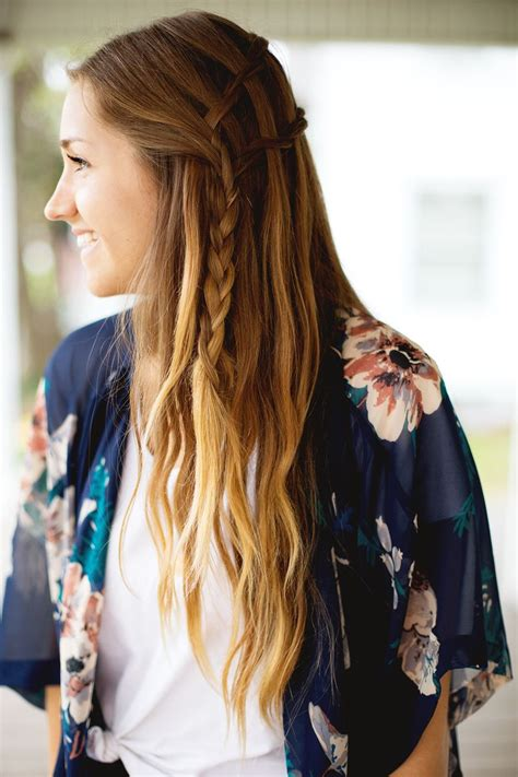 weave  double waterfall twist hairstyle