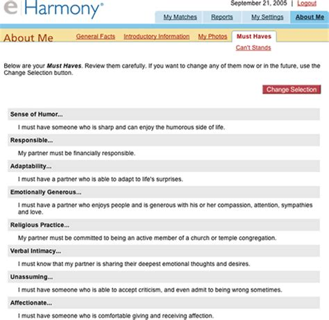 E Harmony Search Personals Eharmony Is Different Low End Mac