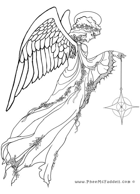 Angel Coloring Pages For Adults Coloring Print Angel 1000 Coloring Pages To Print